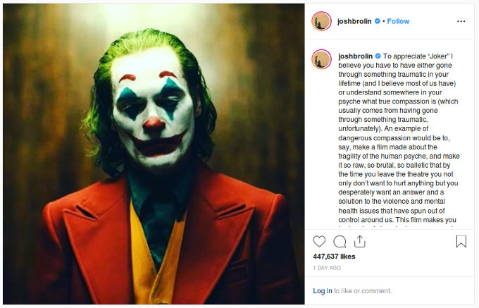 'Thanos' ya vio Joker y esto fue lo que pensó