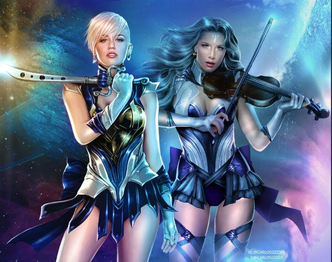 Lady-Gaga-Sailor-Uranus-Miley-Cyrus