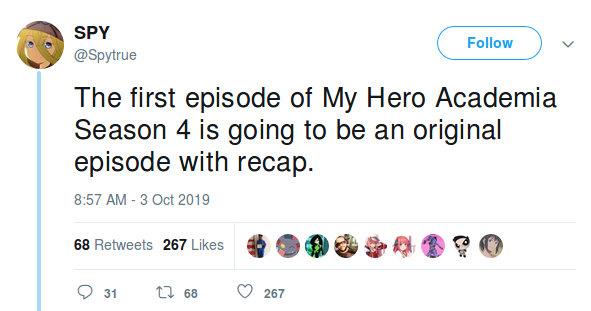 La Temporada 4 de My Hero Academia podría iniciar con recuerdos