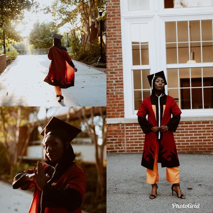 Se gradúa con el traje de Naruto y se ve fantástica