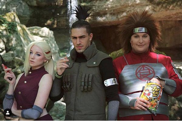 El Equipo 10 de Naruto cobra vida con el cosplay