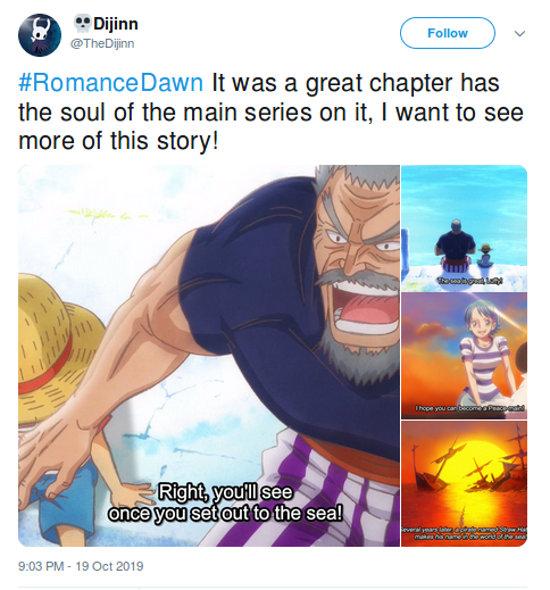 One Piece: El anime de Romance Dawn es un éxito