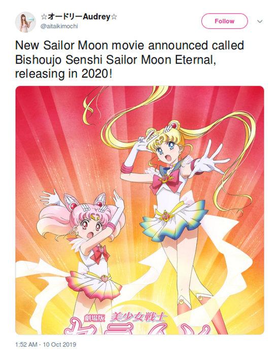 La nueva película de Sailor Moon confirma su nombre oficial