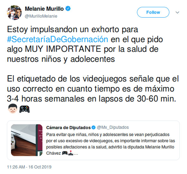 Diputada del PAN quiere añadir advertencia en videojuegos en México