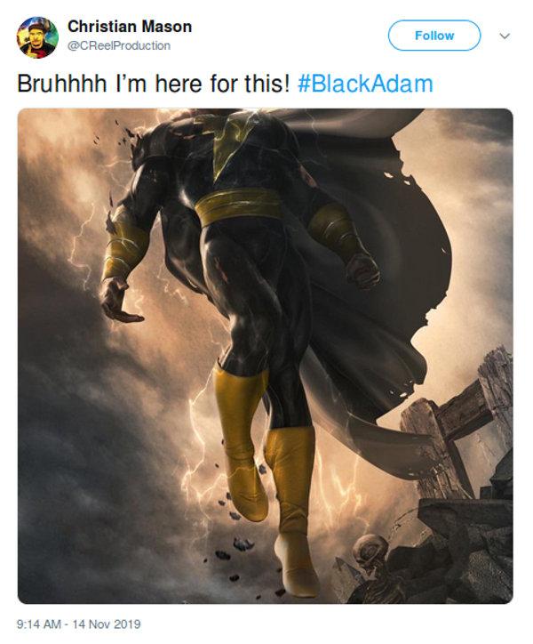 Black Adam, anunciada por The Rock