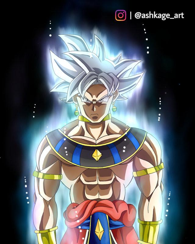 Así se vería Goku como Dios de la Destrucción en Dragon Ball
