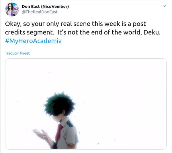 My Hero Academia: La escena extra y los pensamientos de Deku