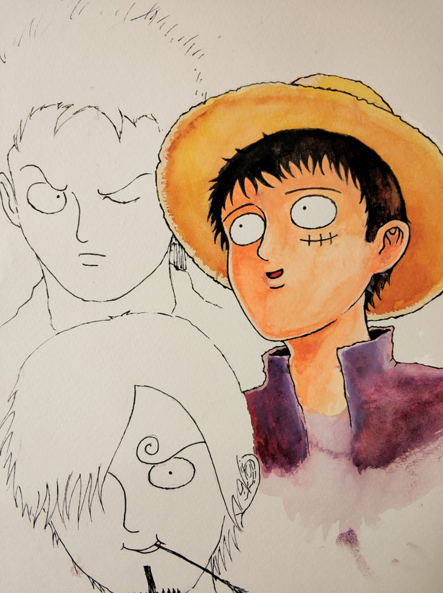 One Piece al estilo de Mob Psycho 100