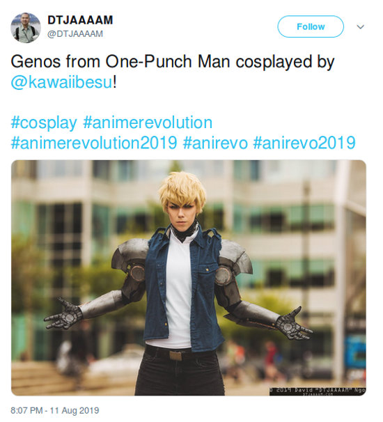 Genos de One-Punch Man cobra vida con el cosplay