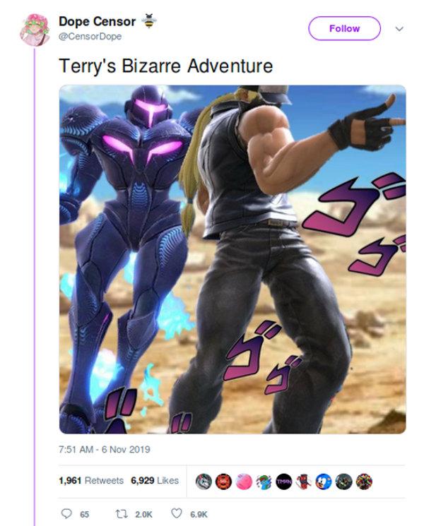 JoJo's Bizarre Adventure y una referencia 'engañosa' en Super Smash Bros. Ultimate