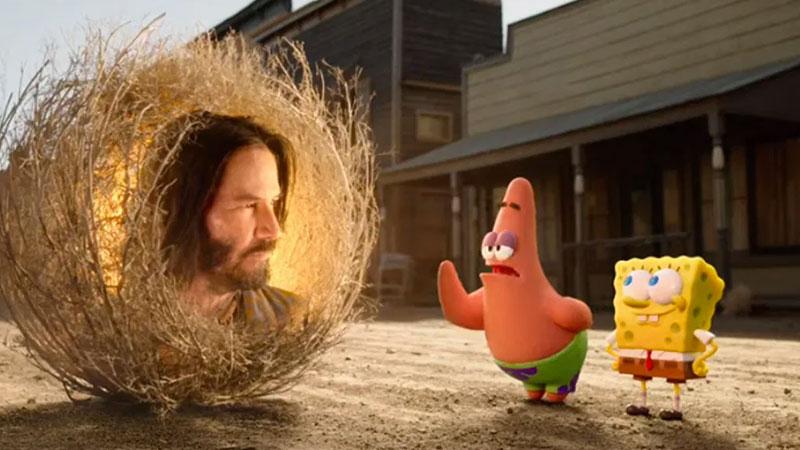 Bob Esponja con Keanu Reeves