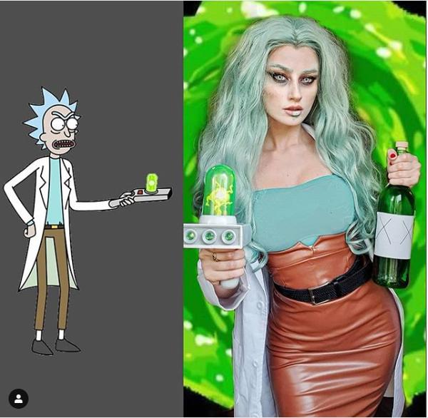 Rick Sánchez Mujer de Rick y Morty.