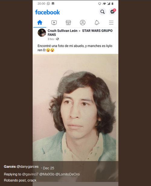 Ahora resulta que el abuelo de medio Twitter es Kylo Ren mexicano