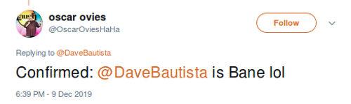 The Batman: ¿Podría Batista ser el nuevo Bane?
