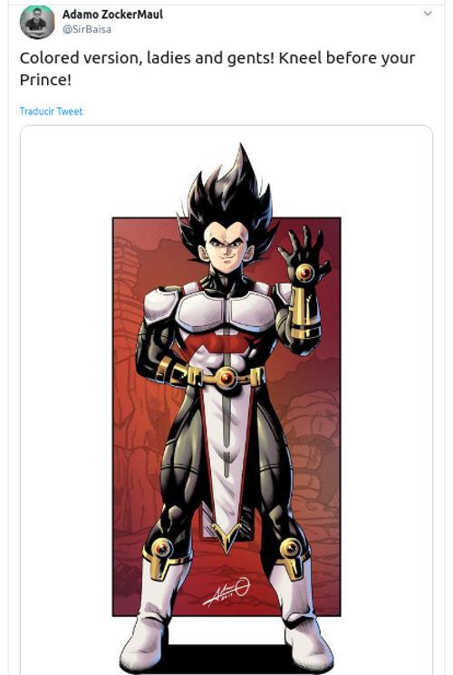 Así se vería Vegeta de Dragon Ball Z al estilo de DC Comics