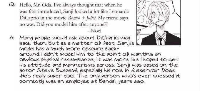 Sanji de One Piece se inspiró en un famoso actor de Hollywood