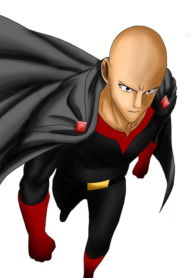 Así se vería Saitama de One-Punch Man como un supervillano