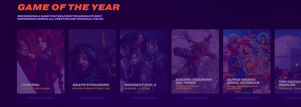 The Game Awards horario méxico