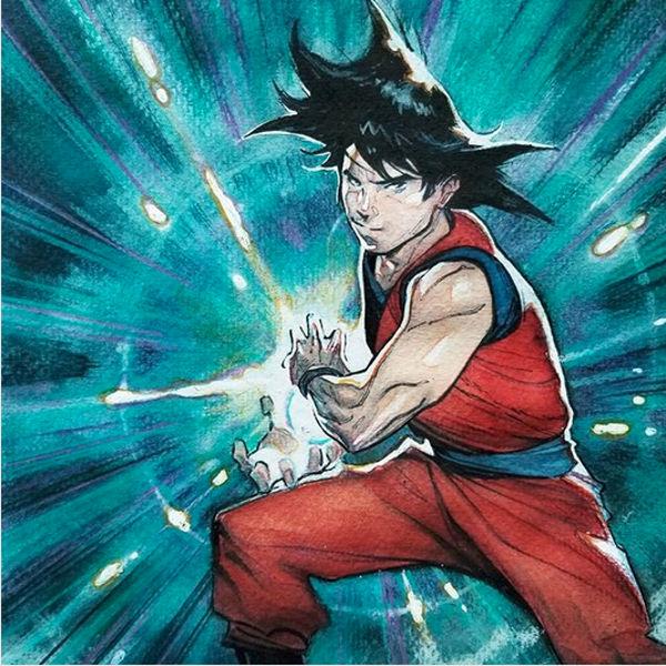 Así imagina un artista de Marvel a Goku de Dragon Ball