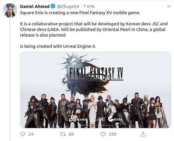 Final Fantasy XV Mobile vuelve a salir a la luz