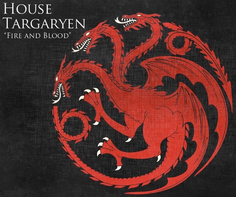Estandarte de la Casa Targaryen en GoT