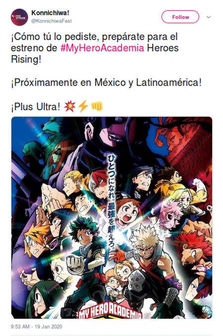 My Hero Academia: Heroes Rising se estrenará en Latinoamérica