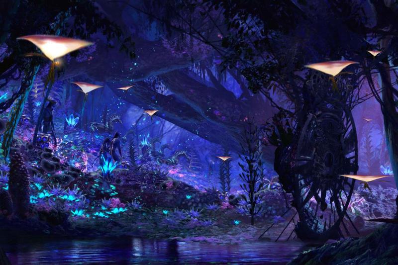 Escenarios del planeta Pandora en Avatar de 2009 dirigida por James Cameron