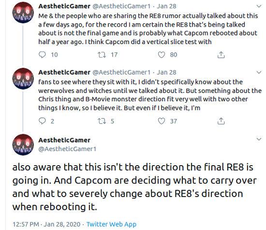 Filtran detalles controversiales de Resident Evil 8, pero el desarrolló reinició