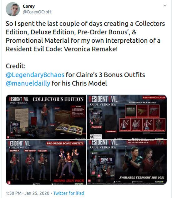 Fans imaginan el remake de Resident Evil: Code Veronica
