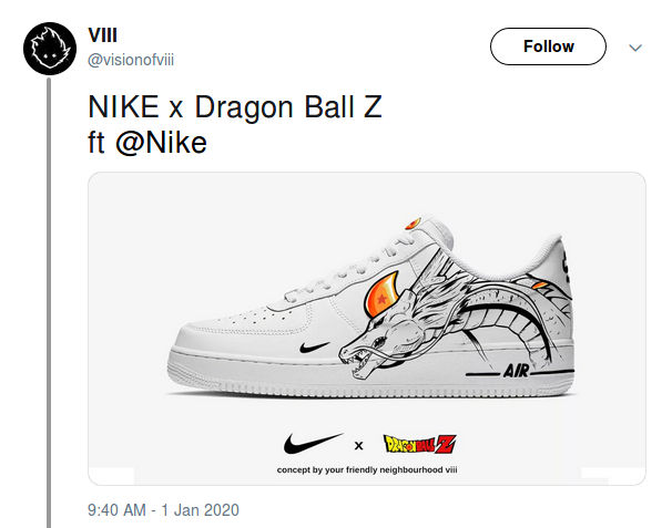 dragon ball zapatillas nike