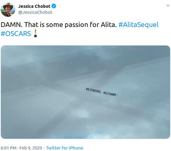 Así pidieron una secuela de Alita durante los Óscar