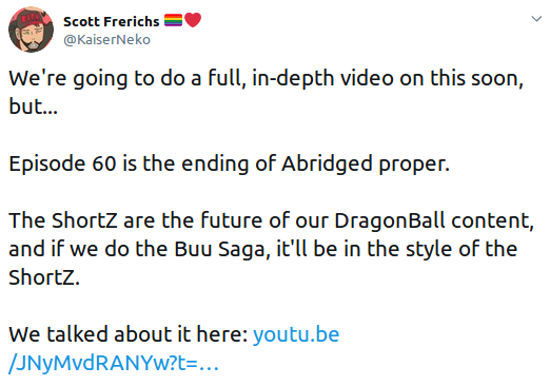 Dragon Ball Z Abridged ya terminó, confirma su productor