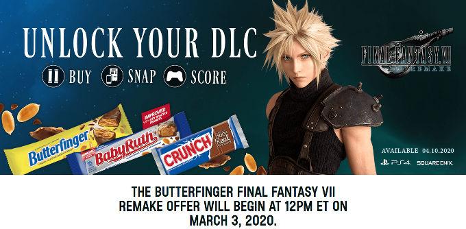 Come chocolates y consigue DLC de Final Fantasy VII Remake