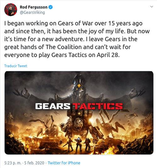 Rod Fergusson deja Gears of War y ahora trabajará en Diablo