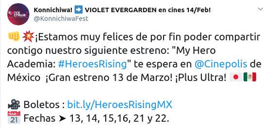 My Hero Academia: Heroes Rising ya tiene fecha de estreno en México