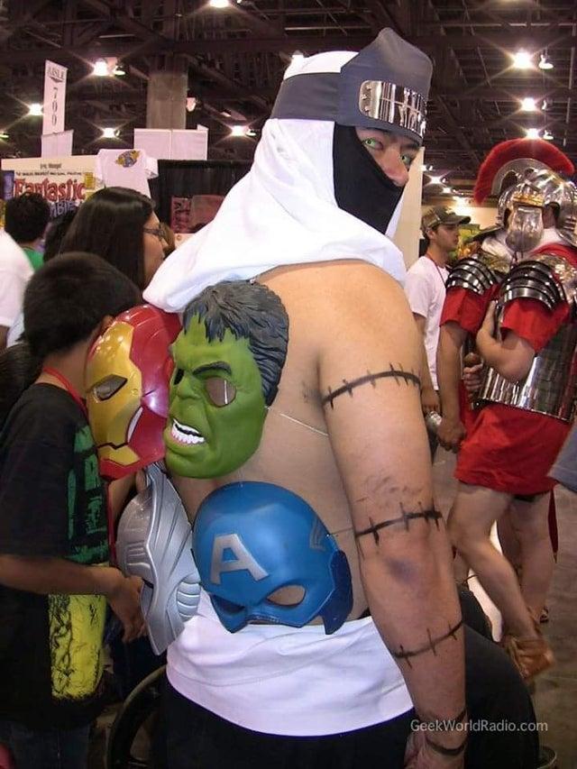 Naruto y Avengers se fusionan en un cosplay de bajo presupuesto