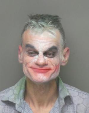 Foto de Jeremy J. Garnier caracterizado como Joker.