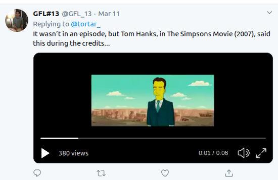 Los Simpson: Fans descubren 'forzadísima predicción' de Tom Hanks y el coronavirus