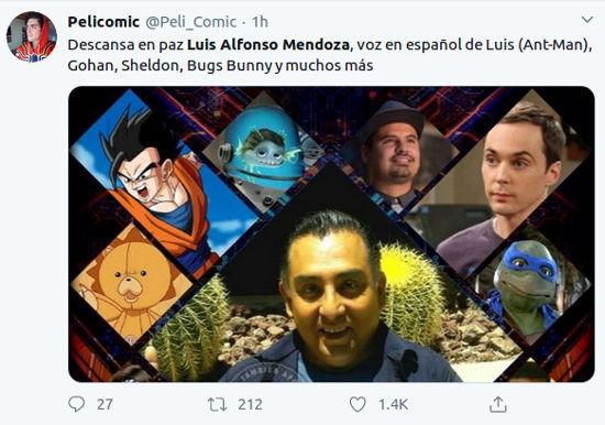 Así reaccionan las redes a la muerte de Luis Alfonso Mendoza