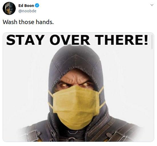 Cocreador de Mortal Kombat hace campaña en contra del coronavirus