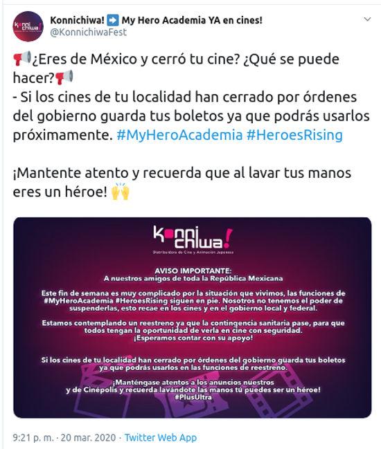 My Hero Academia: Heroes Rising cambia funciones en México por coronavirus