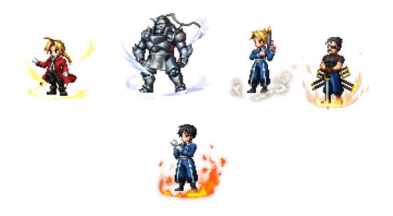 Final Fantasy Brave Exvius y Fullmetal Alchemist Brotherhood