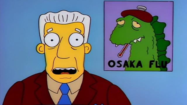 Gripe de Osaka Los Simpson Coronavirus