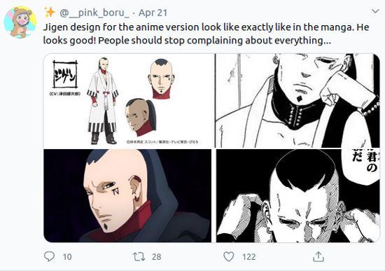 Fans reaccionan Jigen en el anime de Boruto: Naruto Next Generations