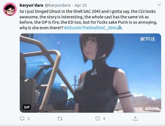El nuevo anime de Ghost in the Shell en Netflix no convence a los fans