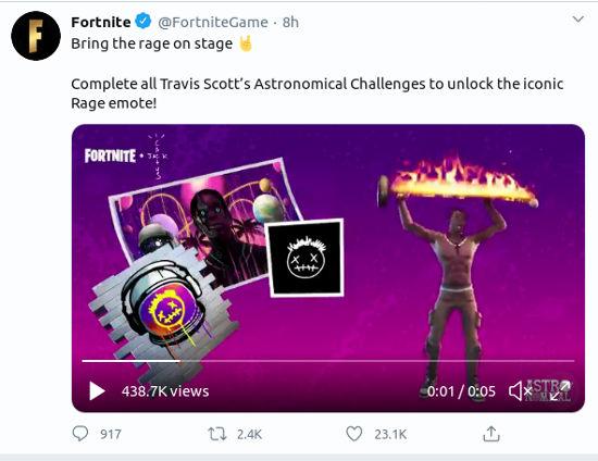 Entérate cómo conseguir la Travis Scott Skin Fortnite