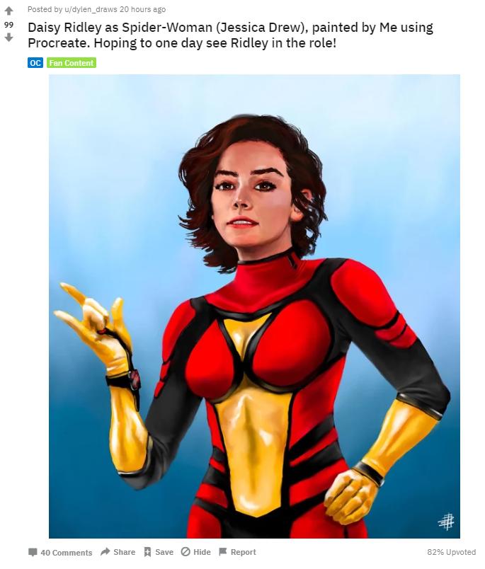 Daisy Ridley como Spider-Woman