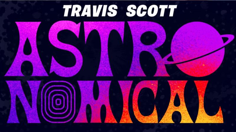 Poster de Astronomical en Fortnite con Travis Scott