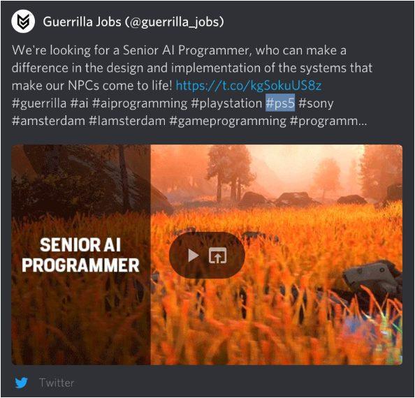 Guerrilla Games PS5 Horizon
