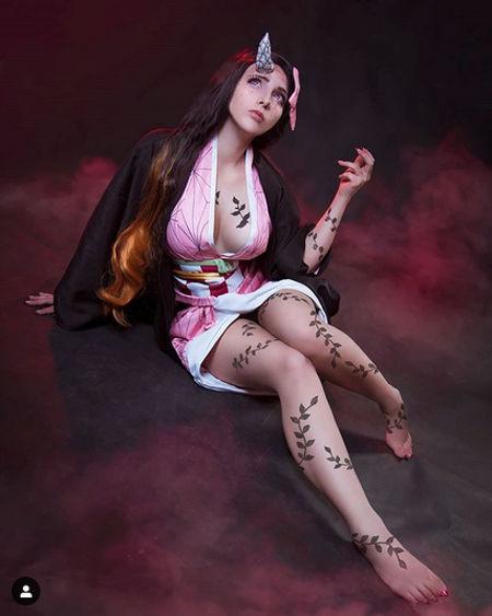 Así se vería Nezuko de Demon Slayer en su forma demonio en la realidad